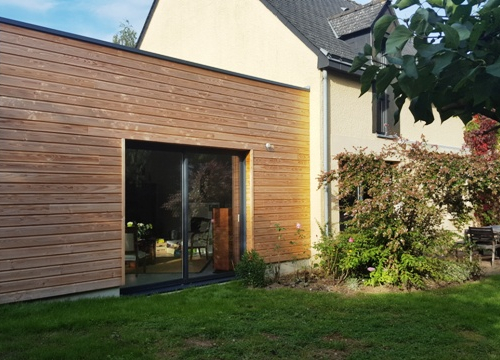 Extension d'une maison en bois à Reims